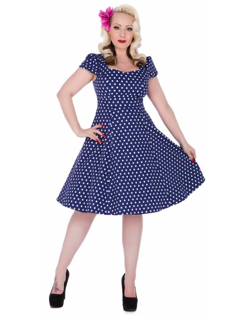 Dolly & Dotty Claudia Flirty Fifties Style Dress in Blue