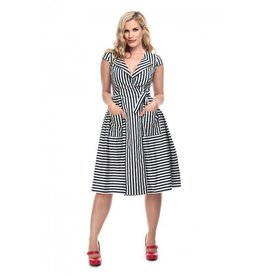 Collectif Joice Striped Swing Dress
