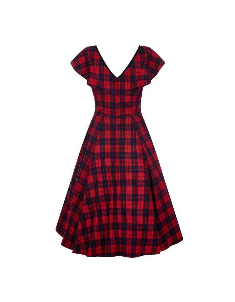 Collectif Arabella Ettrick Check Swing Dress