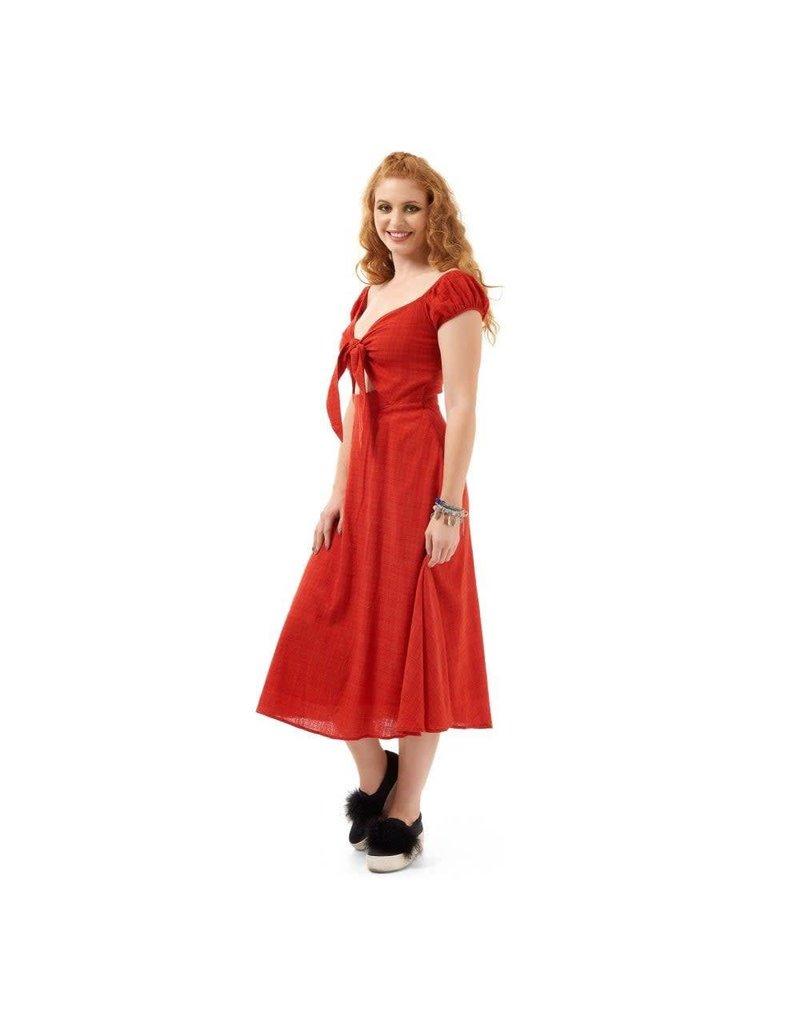 Bright & Beautiful Becca Dress - red