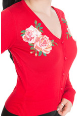 Hearts & Roses Rosy Cardigan - Red