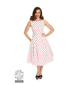 Hearts & Roses Cindy Polka Dot swing jurk