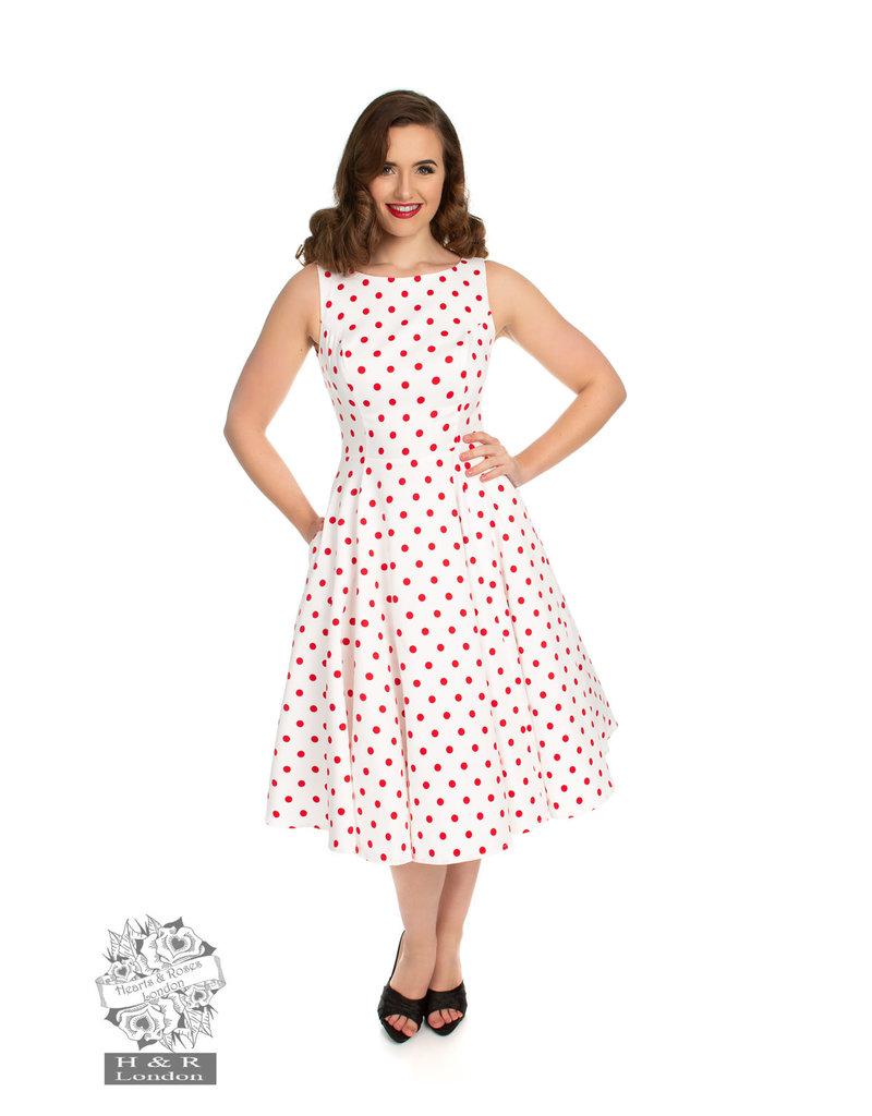 Hearts & Roses Cindy Polka Dot Swing Dress