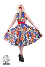 Hearts & Roses Royal Blue 50s Georgina Dress
