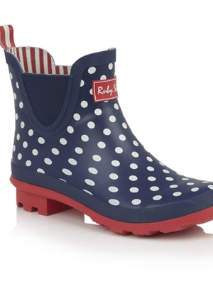 Ruby Shoo Rainboots - Ginny Navy
