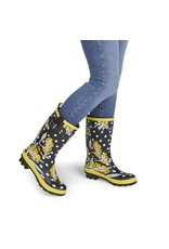 Ruby Shoo Rainboots Hermione - black floral