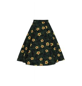 Collectif Matilde Tropical Hibiscus Swing Skirt