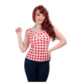 Collectif Dolores Vintage Gingham Top