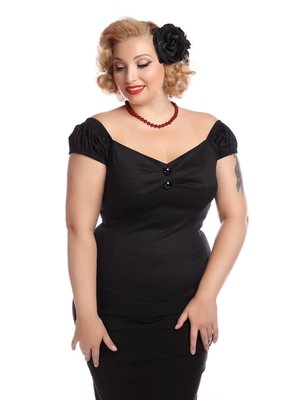Collectif Dolores Top Plain Black