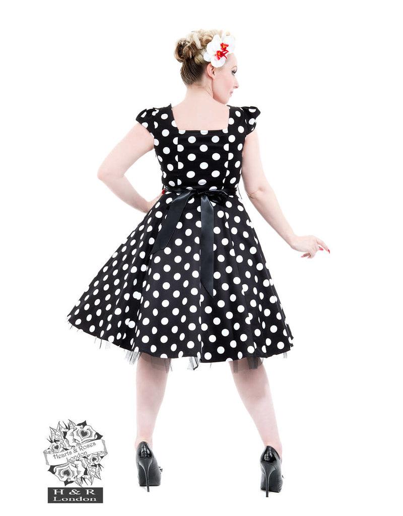Hearts & Roses 50's Big Polka Dot Tea Dress