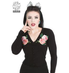 Hearts & Roses Black Rosy Cardigan