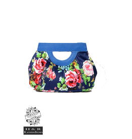 Hearts & Roses Navy Floral Clutch