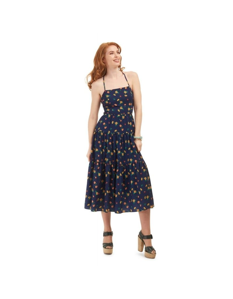Bright & Beautiful Judy Painted Floral Dress