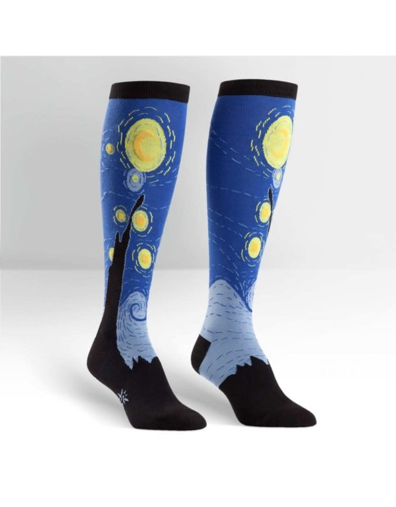 Sock it to me Starry Night knee high