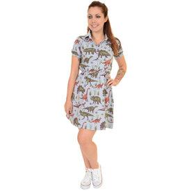 Run & Fly Dinosaur T Shirt Skater Dress