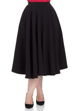 Voodoo Vixen Sandy black circle skirt