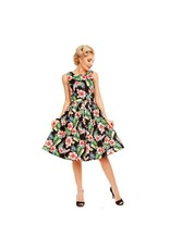 Dolly & Dotty Annie Dress in Black Orchid XS