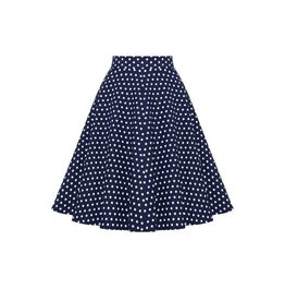 Dolly & Dotty Shirley Circle Skirt in Blue Polka Dot
