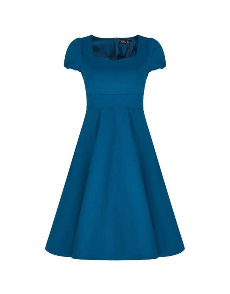 Dolly & Dotty Claudia Dress in Peacock Blue