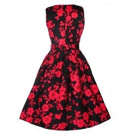 Annie Dress in Black/Red