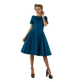Dolly & Dotty Darlene Dress In Peacock Blue