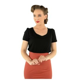 Dolly & Dotty Gina Cut Out Top in Black