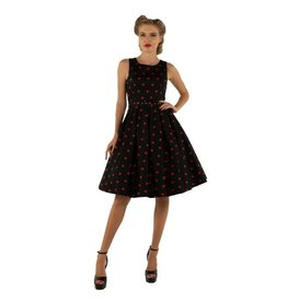 Dolly & Dotty Annie Polka Dot Dress In Black/Red