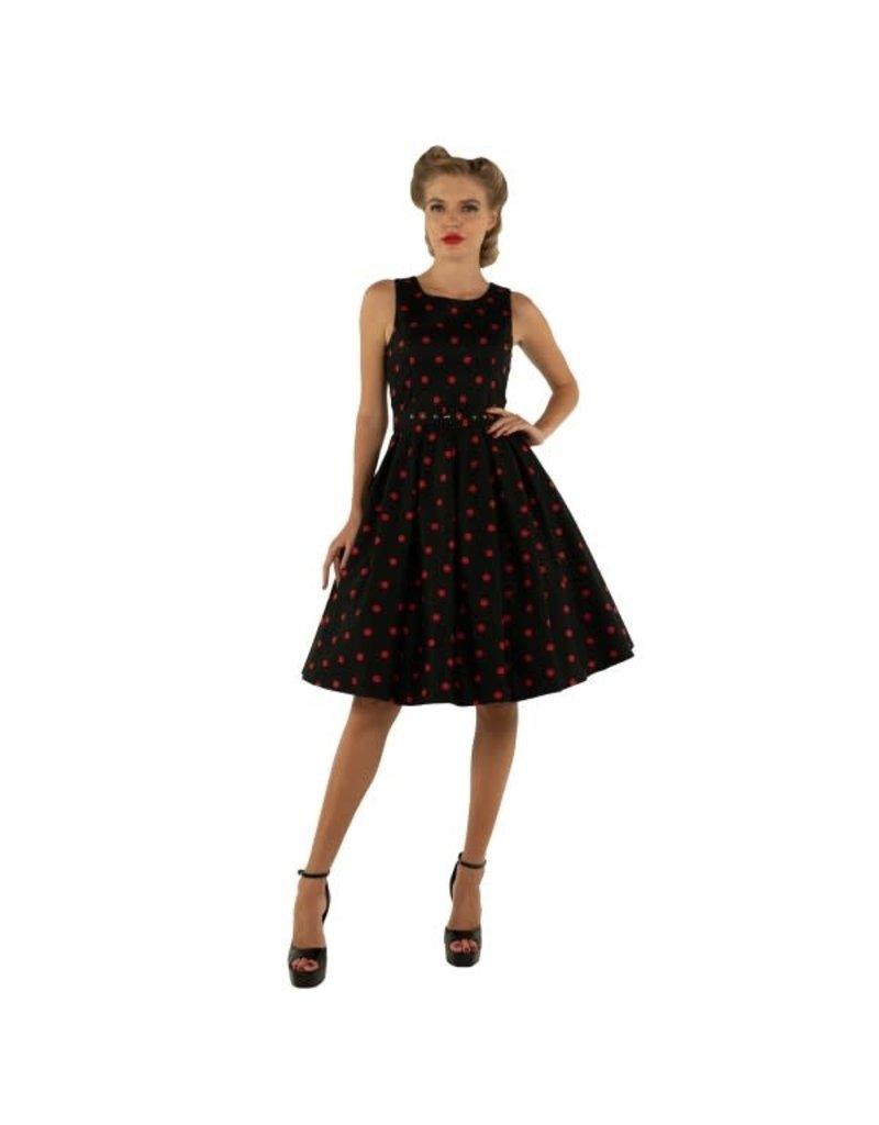 Dolly & Dotty Annie Polka Dot Dress In Black/Red
