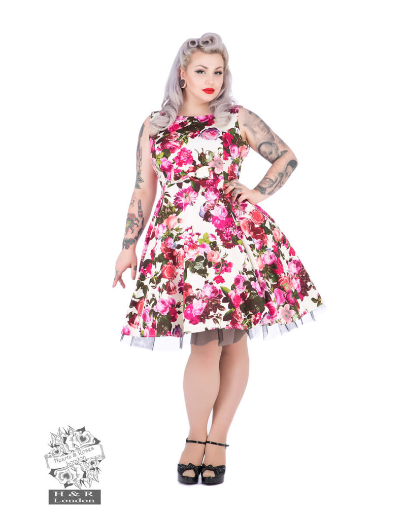 Hearts & Roses Audrey Floral Swing Dress