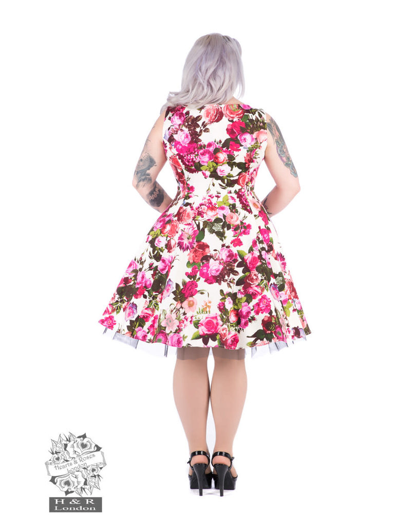Hearts & Roses Audrey Floral Swing-jurk