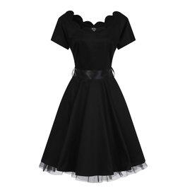 Hearts & Roses Black Swing Dress