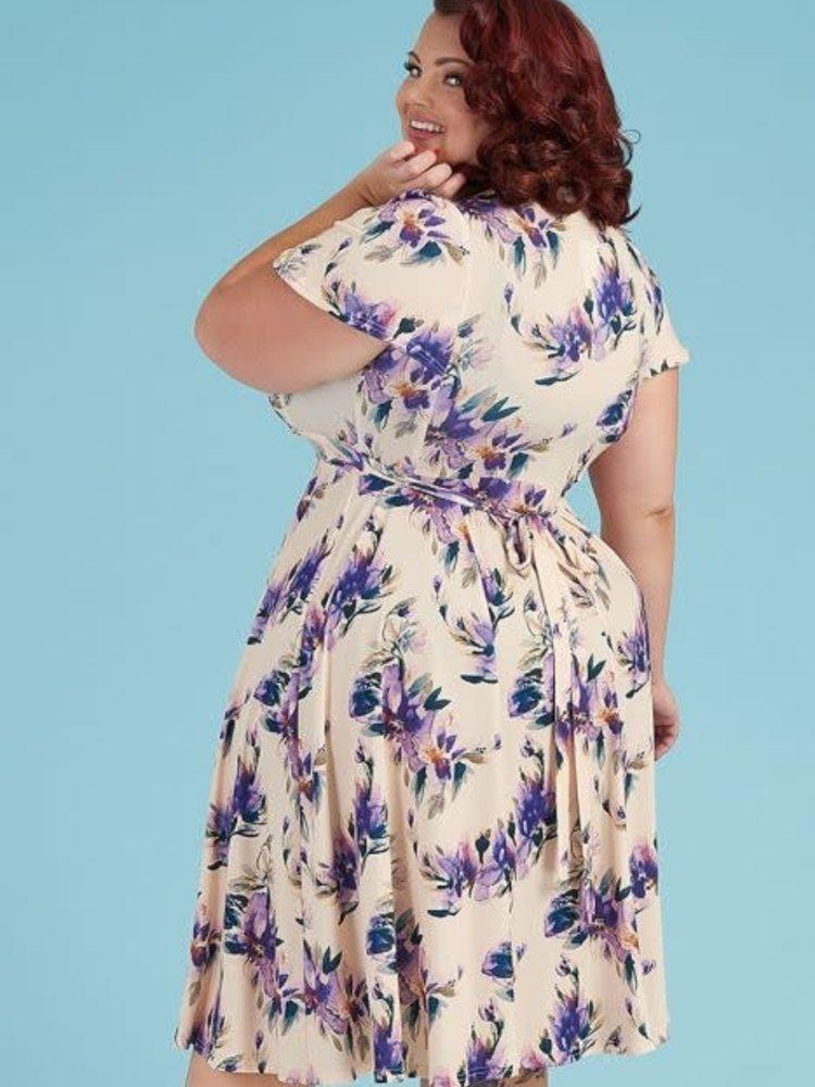 Lady V Lyra Dress - Purple Pansy