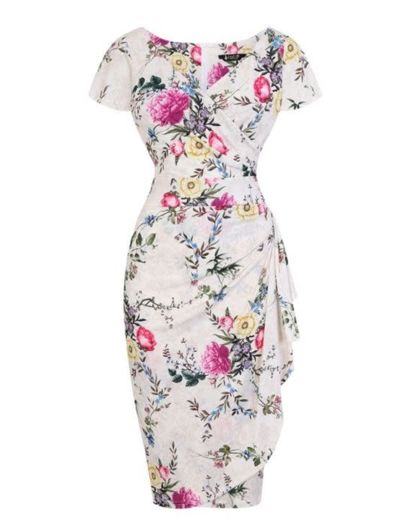 Lady V Elsie Dress - Cream Antique
