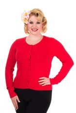 Banned Getaway Cardigan - Red