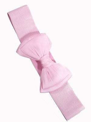 Banned Bow Belt - light pink