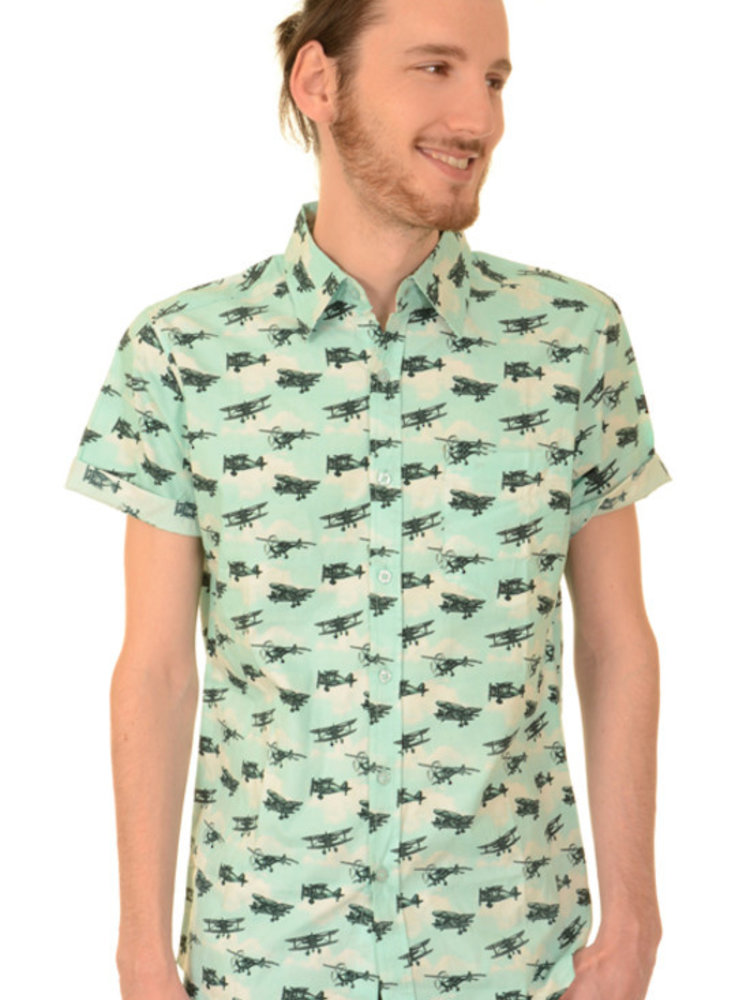Run & Fly Aeroplane Shirt short sleeves