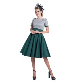 Dolly & Dotty Darlene Dress in Grey/Green
