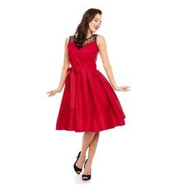 Dolly & Dotty Elizabeth Dress in Red