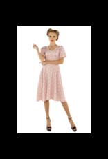 Dolly & Dotty Janice Dress in Baby Pink/White Polka Dot