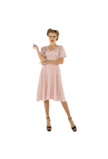 Dolly & Dotty Janice-jurk in babyroze / witte polkadot