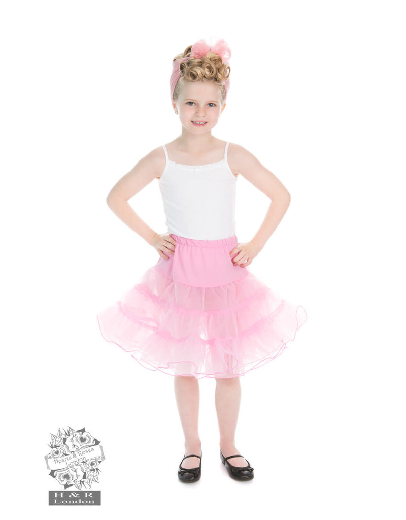 Hearts & Roses Kids petticoat pink