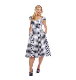 Collectif Monia Gingham swing jurk