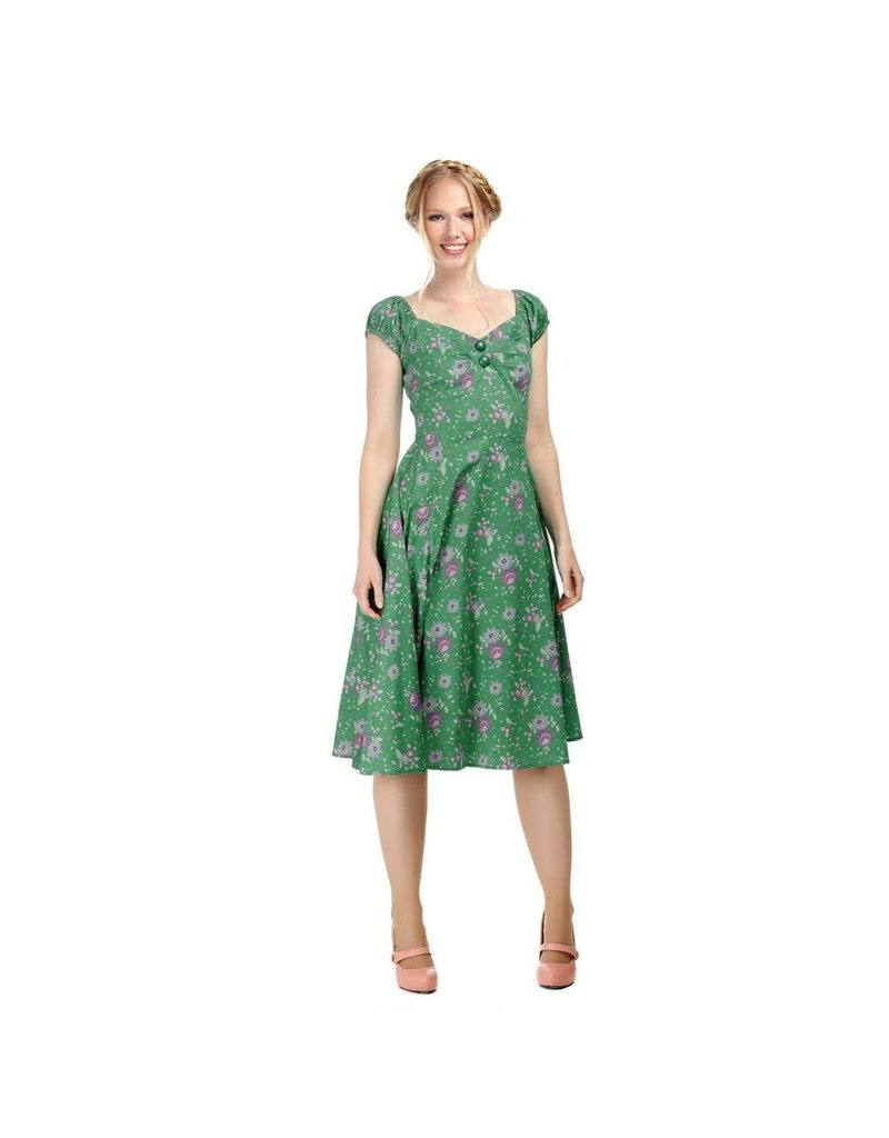 Collectif Dolores Clashing Floral Jurk