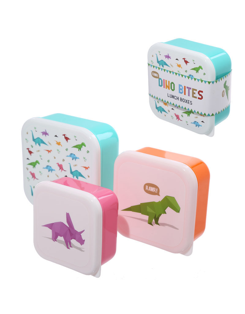 Dinosaur lunch boxes