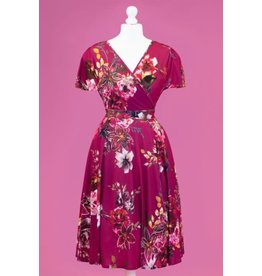 Lady V Lyra Dress - Fuchsia Skies
