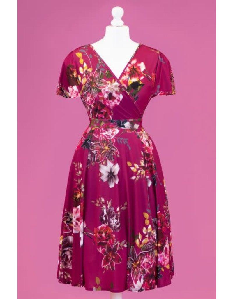 Lady V Lyra Dress - Fuchsia Skies