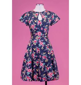 Lady V Keyhole Day Dress - Country Garden