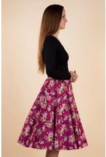 Lady V Full Circle Skirt  - Damson Berry