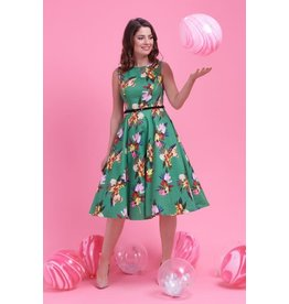Lady V Hepburn Dress - Emerald Garden