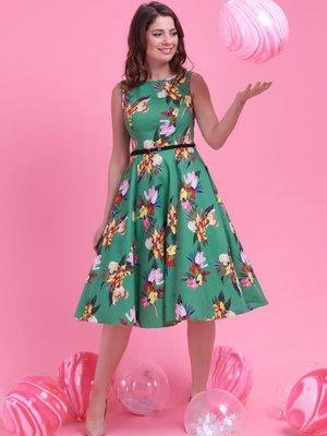 Lady V Hepburn Dress - Emerald Garden